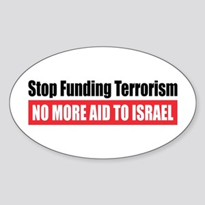 Stop Funding Oval Sticker