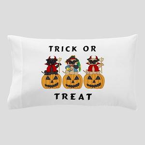 Halloween Trick or Treat Pugs Pillow Case