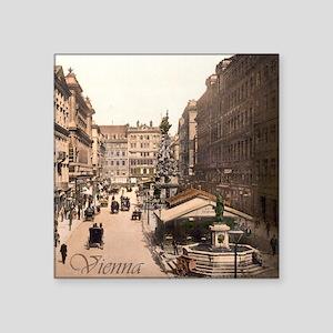 """Vintage Vienna Square Sticker 3"""" x 3"""""""