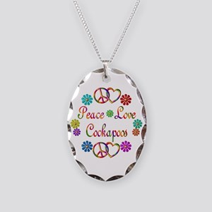 Cockapoo Necklace Oval Charm