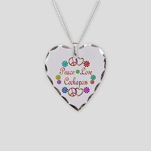 Cockapoo Necklace Heart Charm