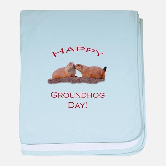 Groundhog Day Kiss baby blanket