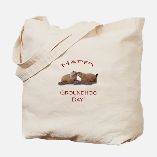 Groundhog Day Kiss Tote Bag