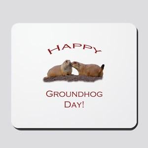 Groundhog Day Kiss Mousepad