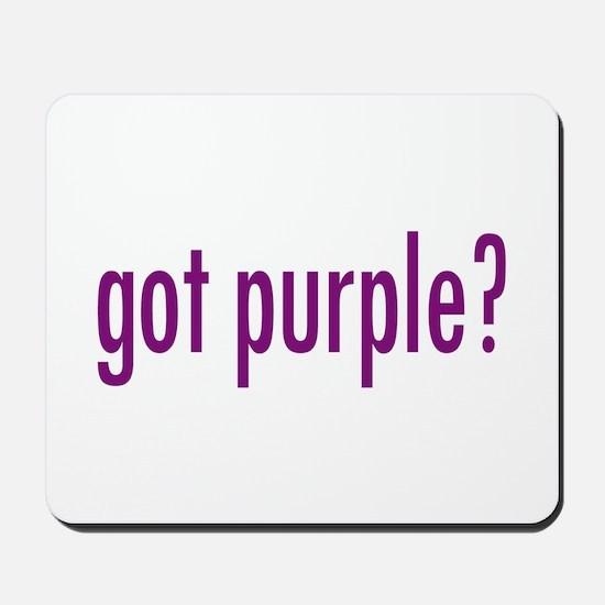 got purple? Mousepad