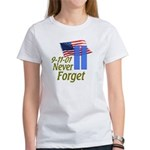 Never Forget 9-11 - With Buildings Women's T-Shirt