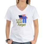 Never Forget 9-11 - With Buildings Women's V-Neck