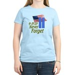 Never Forget 9-11 - With Buildings Women's Light T