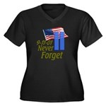 Never Forget 9-11 - With Buildings Women's Plus Si