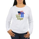 Never Forget 9-11 - With Buildings Women's Long Sl