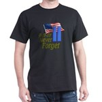 Never Forget 9-11 - With Buildings Dark T-Shirt