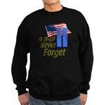 Never Forget 9-11 - With Buildings Sweatshirt (dar