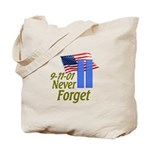 Never Forget 9-11 - With Buildings Tote Bag