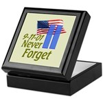 Never Forget 9-11 - With Buildings Keepsake Box