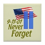 Never Forget 9-11 - With Buildings Tile Coaster