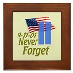 Never Forget 9-11 - With Buildings Framed Tile