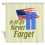 Never Forget 9-11 - With Buildings Shower Curtain