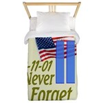 Never Forget 9-11 - With Buildings Twin Duvet