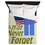 Never Forget 9-11 - With Buildings Queen Duvet