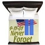 Never Forget 9-11 - With Buildings King Duvet