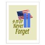 Never Forget 9-11 - With Buildings Small Poster