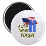 Never Forget 9-11 - With Buildings Magnet