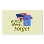 Never Forget 9-11 - With Buildings Sticker (Rectan
