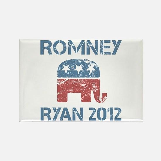 Vintage Romney Ryan R Rectangle Magnet