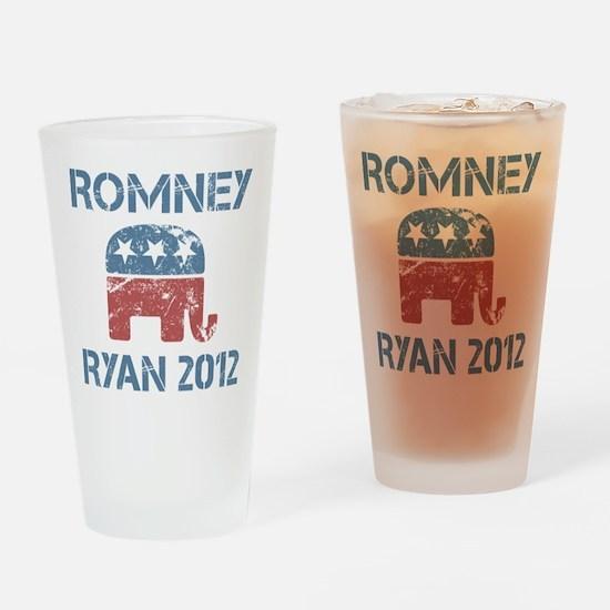 Vintage Romney Ryan R Drinking Glass