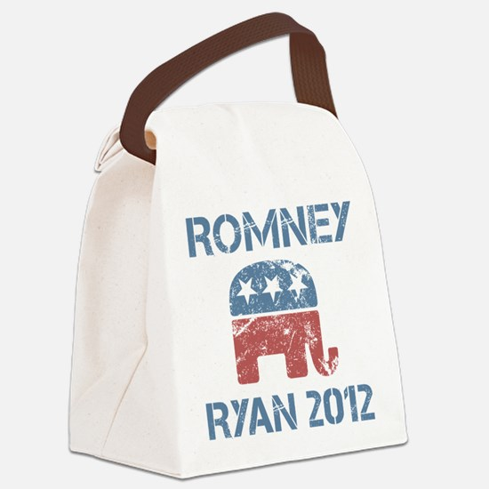 Vintage Romney Ryan R Canvas Lunch Bag