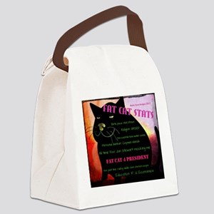 Fat Cat Stats Canvas Lunch Bag