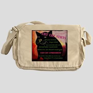 Fat Cat Stats Messenger Bag