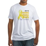 July is Sarcoma Awareness Month-white T-Shirt