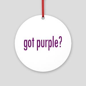 got purple? Ornament (Round)