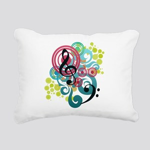 Music Swirl Rectangular Canvas Pillow