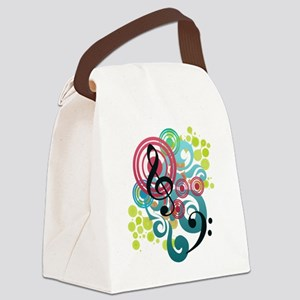 Music Swirl Canvas Lunch Bag