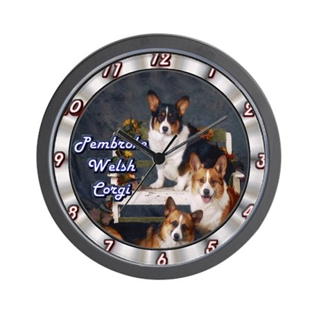 Pembroke Welsh Corgi Wall Clock