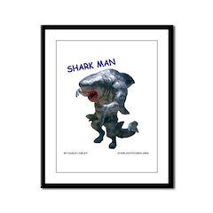 Chace Lobleys Shark man. Framed Panel Print