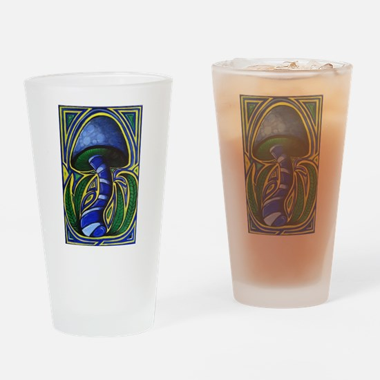 MUSHROOM PAINTING Drinking Glass