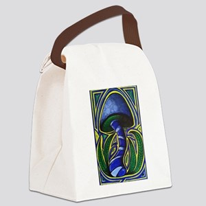 MUSHROOM PAINTING Canvas Lunch Bag