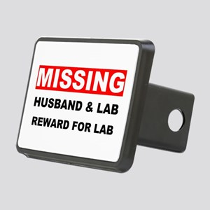 Missing Husband Lab Rectangular Hitch Cover