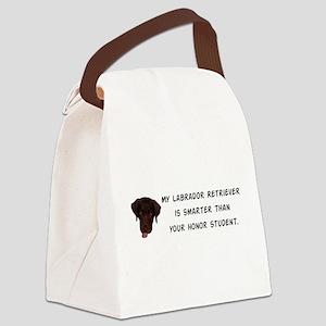 Smart Labrador Retriever Canvas Lunch Bag