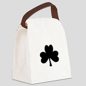 shamrock_black Canvas Lunch Bag