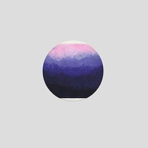 Pink Purple Blue Sunset Night time Sky Mini Button