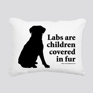 Lab are Fur Children Rectangular Canvas Pillow