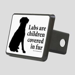 Lab are Fur Children Rectangular Hitch Cover