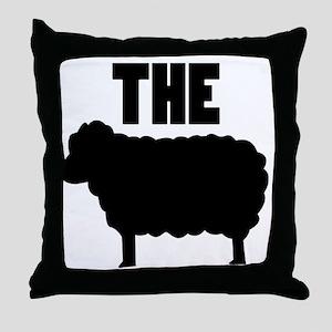 The Black Sheep Throw Pillow