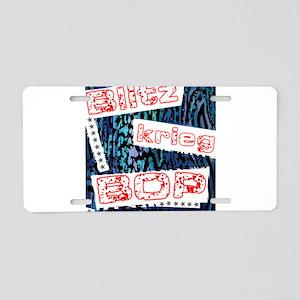 Blitzkrieg Bop Aluminum License Plate