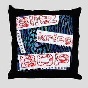 Blitzkrieg Bop Throw Pillow