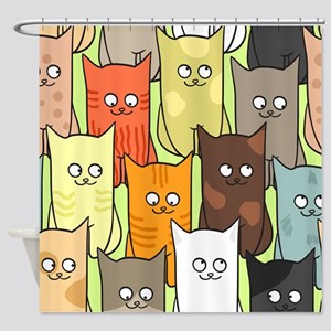 Cute Cats Shower Curtain